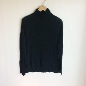 Zara Black Turtleneck Sweater Sz Small NWTS